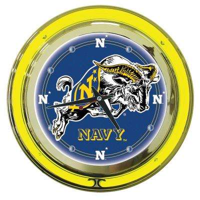 14 in. United States Naval Academy Neon Wall Clock