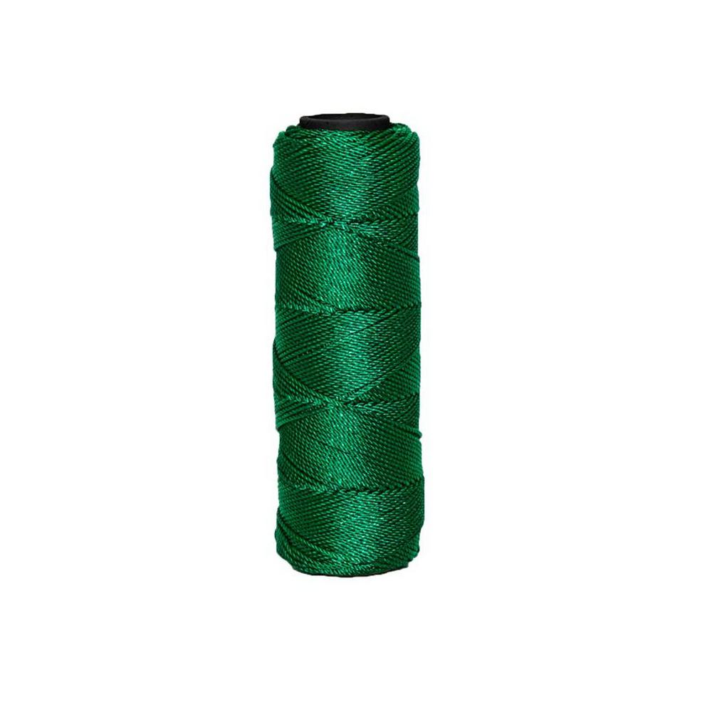 3.3 in. x 500 ft. Green Braided Nylon Line #18