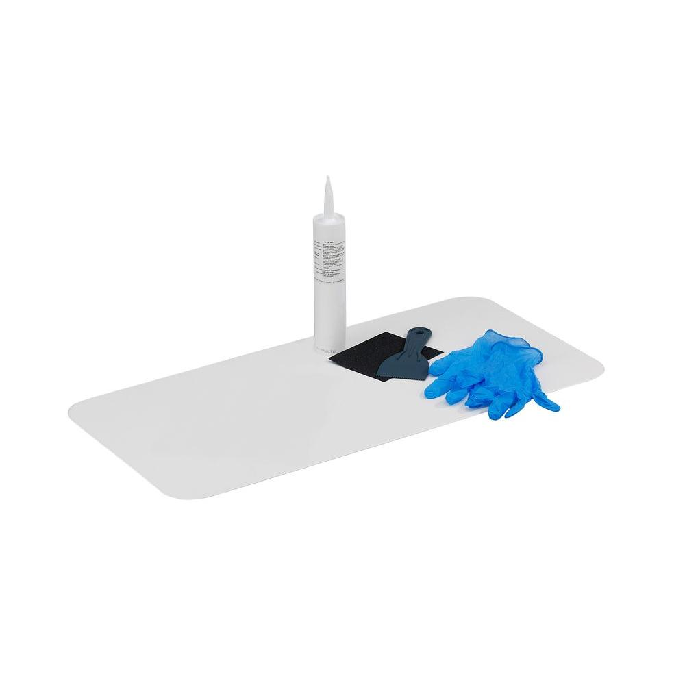 NorthAmericanPolymer North American Polymer 16 in. W x 40 in. L Bathtub Floor Repair Inlay Kit, White