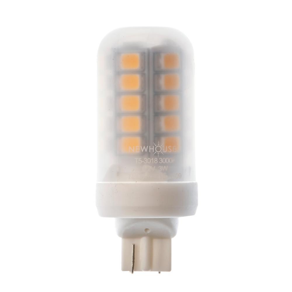 18-Watt Equivalent Soft White T5 Non Dimmable LED Light Bulb