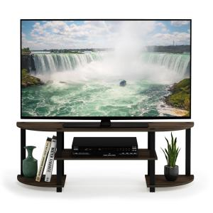 Turn-N-Tube 47 in. Columbia Walnut Wood TV Stand Fits TVs Up to 42 in. with Open Storage