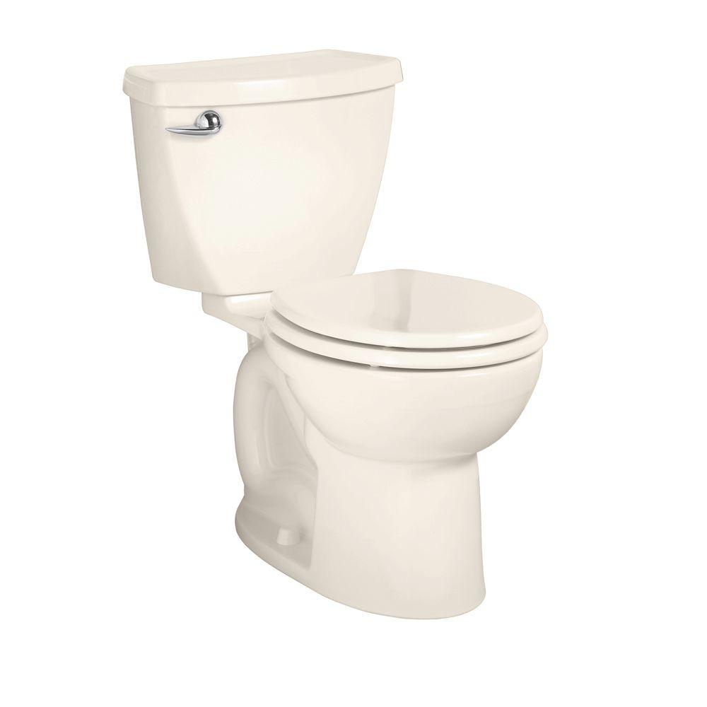 American Standard Cadet 3 2-Piece 1.6 GPF Round Front Toilet in Linen-DISCONTINUED