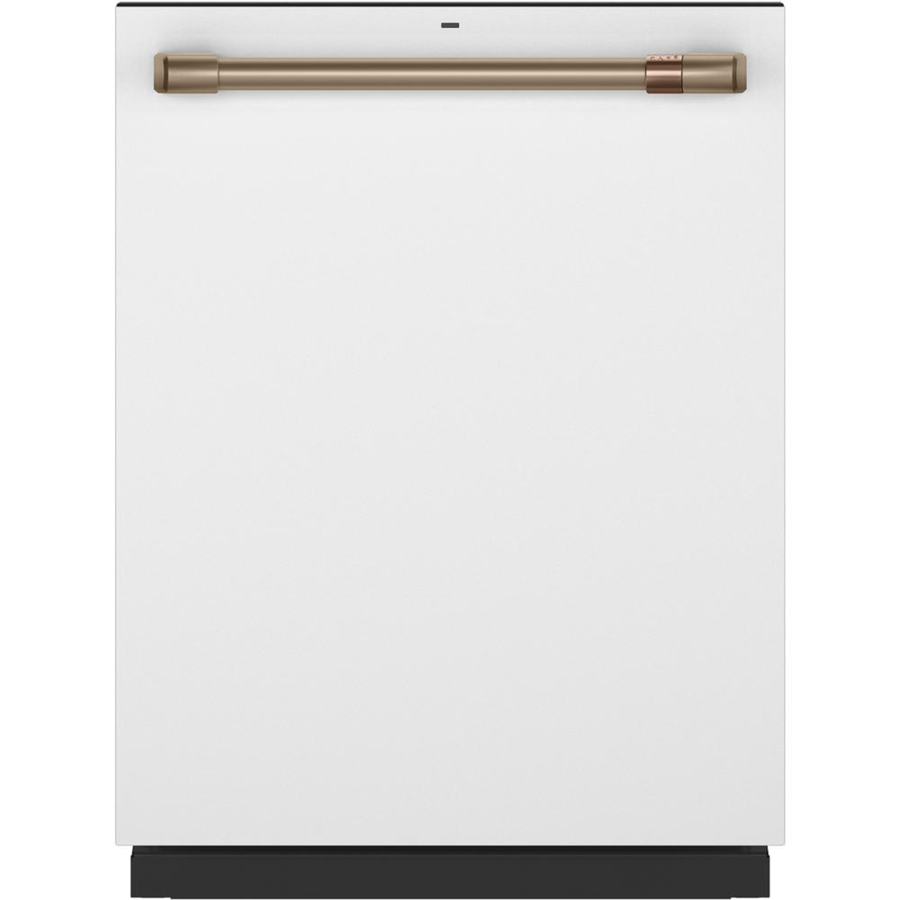 Cafe Top Control Tall Tub Dishwasher in Matte White with Stainless Steel Tub, Fingerprint Resistant, 45 dBA