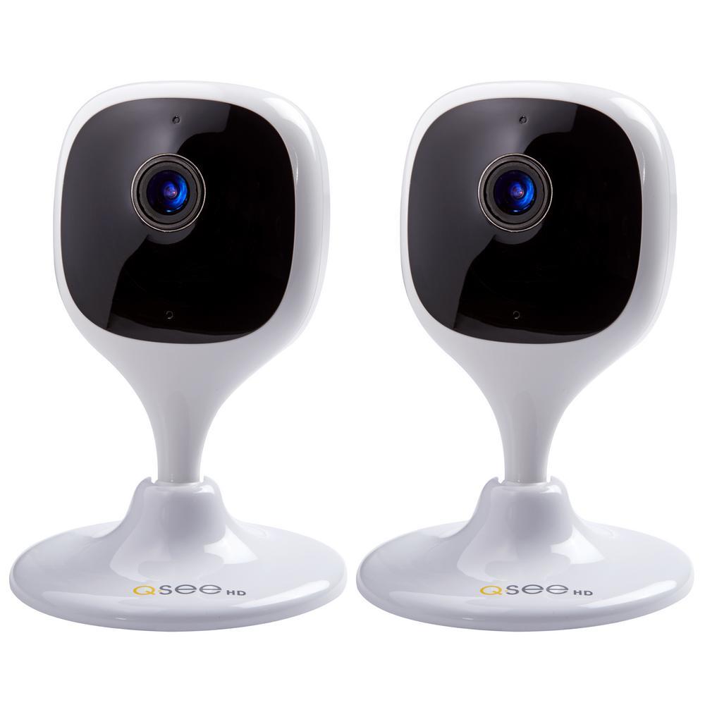 Wireless 1080p Wi-Fi Mini Eco Cube Surveillance Camera (2-Pack)