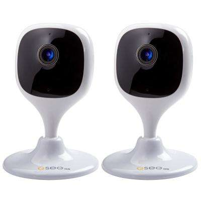 Wireless 1080p Wi-Fi Mini Eco Cube Surveillance Camera (2-Pack)