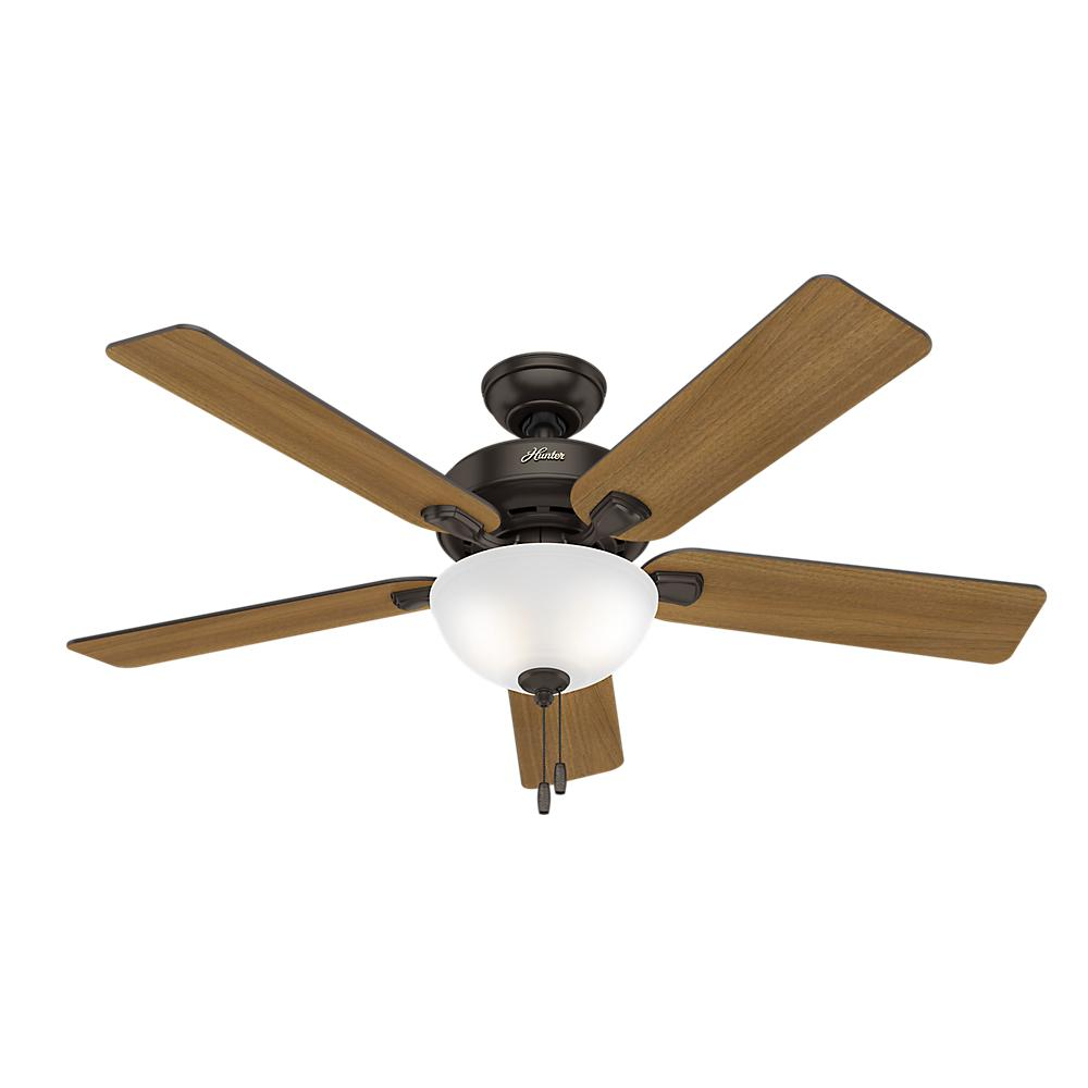 Hunter Pro Desk 52 In. Indoor Bowl Premier Bronze Ceiling Fan