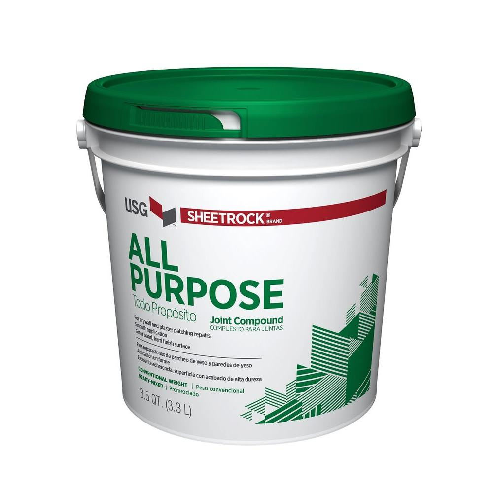 Sheetrock brand all purpose 3 5 qt pre mixed joint for Bathroom joint compound