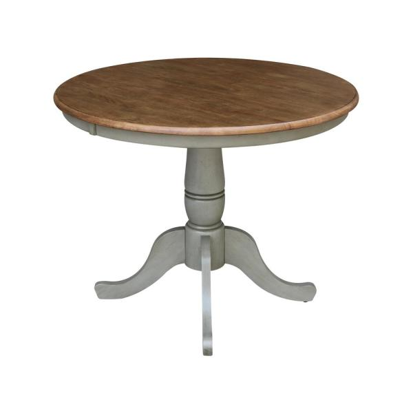 Stone Solid Wood Round