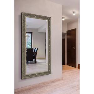 Extra Large Opulent Silver Vanity Mirror