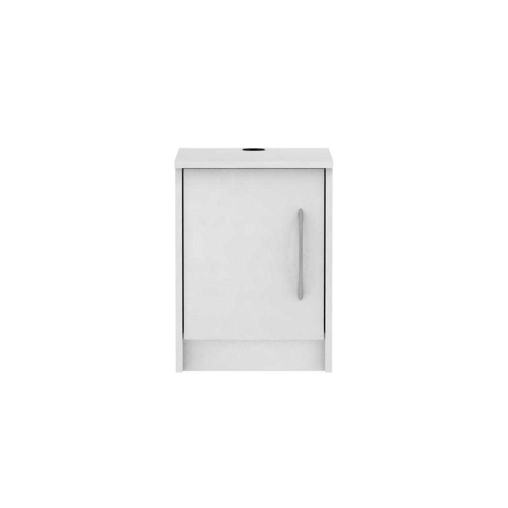 Homestar Oriole 1 Door Off White Nightstand