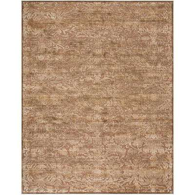 Martha Stewart Soft Anthracite/Camel 8 ft. X 11 ft. 2 in. Area Rug