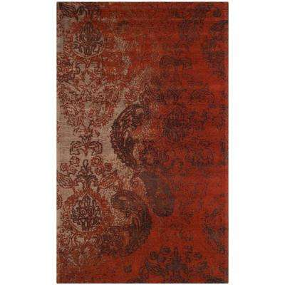 Classic Vintage Rust/Brown 4 ft. x 6 ft. Area Rug
