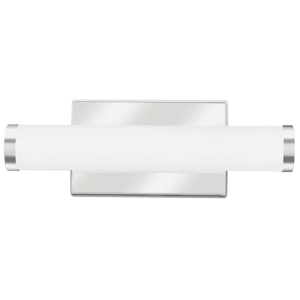 Lithonia lighting contemporary cylinder chrome 3k led for Modern chrome bathroom vanity lighting