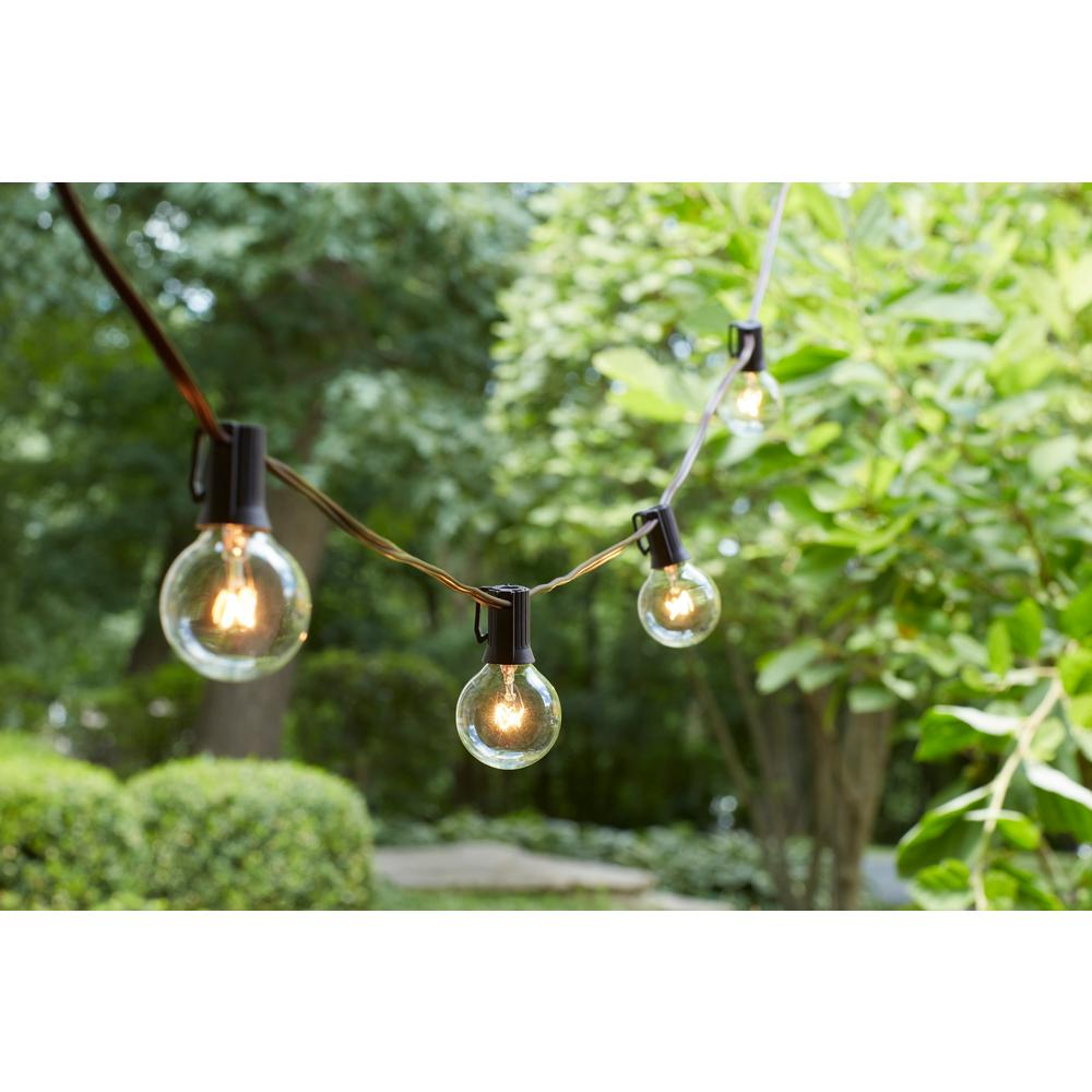 Hampton Bay 24 Light Hanging Garden Clear String Lights