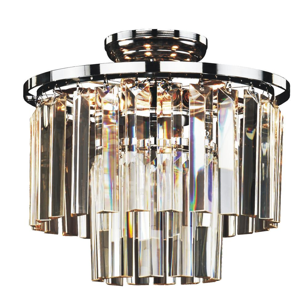 timeless lighting. Glow Lighting Timeless 6-Light Tri-Cut Glass And Chrome Frame Flush Mount E