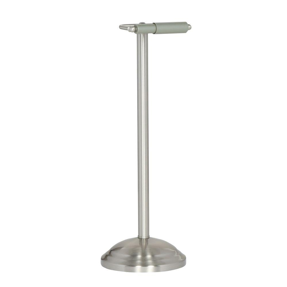 Standing toilet paper holder brushed nickel new classic brushed nickel - Brushed nickel standing toilet paper holder ...