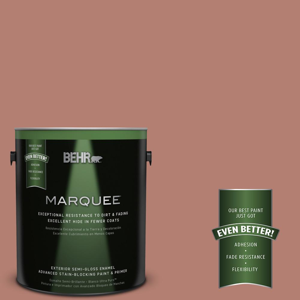 BEHR MARQUEE 1-gal. #ICC-102 Copper Pot Semi-Gloss Enamel Exterior Paint