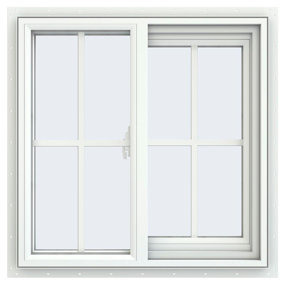 Tafco windows 23 5 in x 23 5 in left hand single slider for Sliding glass windows