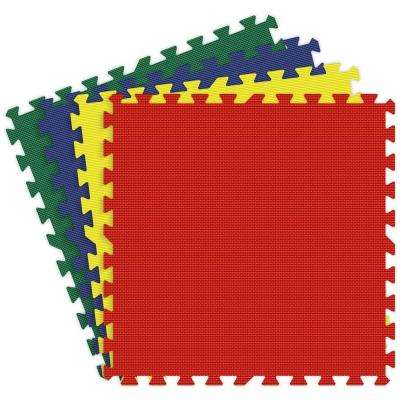 Red, Yellow, Royal Blue and Green 24 in. x 24 in. Comfortable Mat (100 sq.ft. / Case)