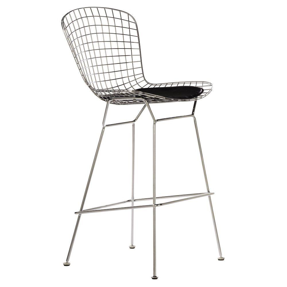 Home Decorators Collection James 29.5 in. Chrome Bar Stool with Back