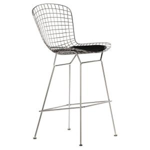 Home Decorators Collection James 29 5 In Chrome Bar Stool With Back 0277200250 The Depot