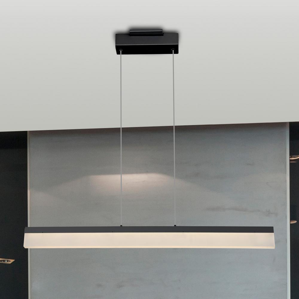 Procyon 21-Watt Black Integrated LED Linear Chandelier