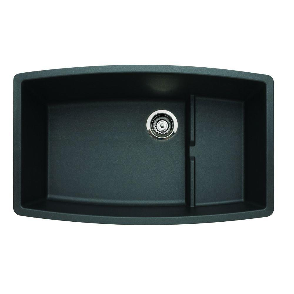 Blanco Performa Undermount Granite Composite 32 In 0 Hole Single Bowl Kitchen Sink