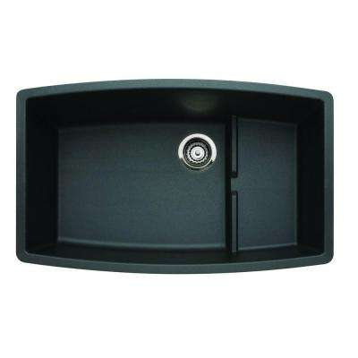 Performa Undermount Granite Composite 32 in. 0-Hole Single Bowl Kitchen Sink in Anthracite