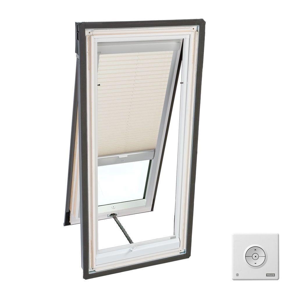 Velux Solar Ed Light Filtering Clic Sand Skylight Blind For Vs S01 Vse And Vss Models Fslh 1259 The Home Depot
