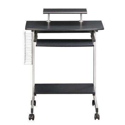 Graphite Compact Computer Cart With Storage