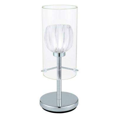 Ricabo 12 in. Chrome Table Lamp