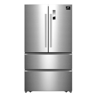 Bovino - 33 in. 19 cu. ft. French Door No Frost Refrigerator in Stainless Steel