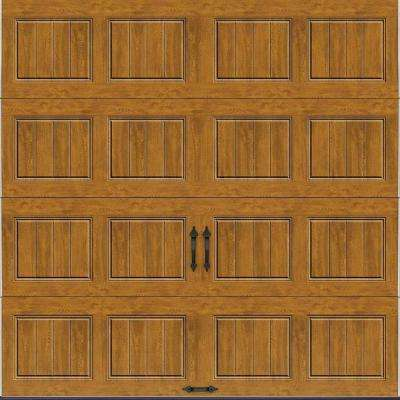 Gallery Collection 8 ft. x 8 ft. 18.4 R-Value Intellicore Insulated Solid Ultra-Grain Medium Garage Door