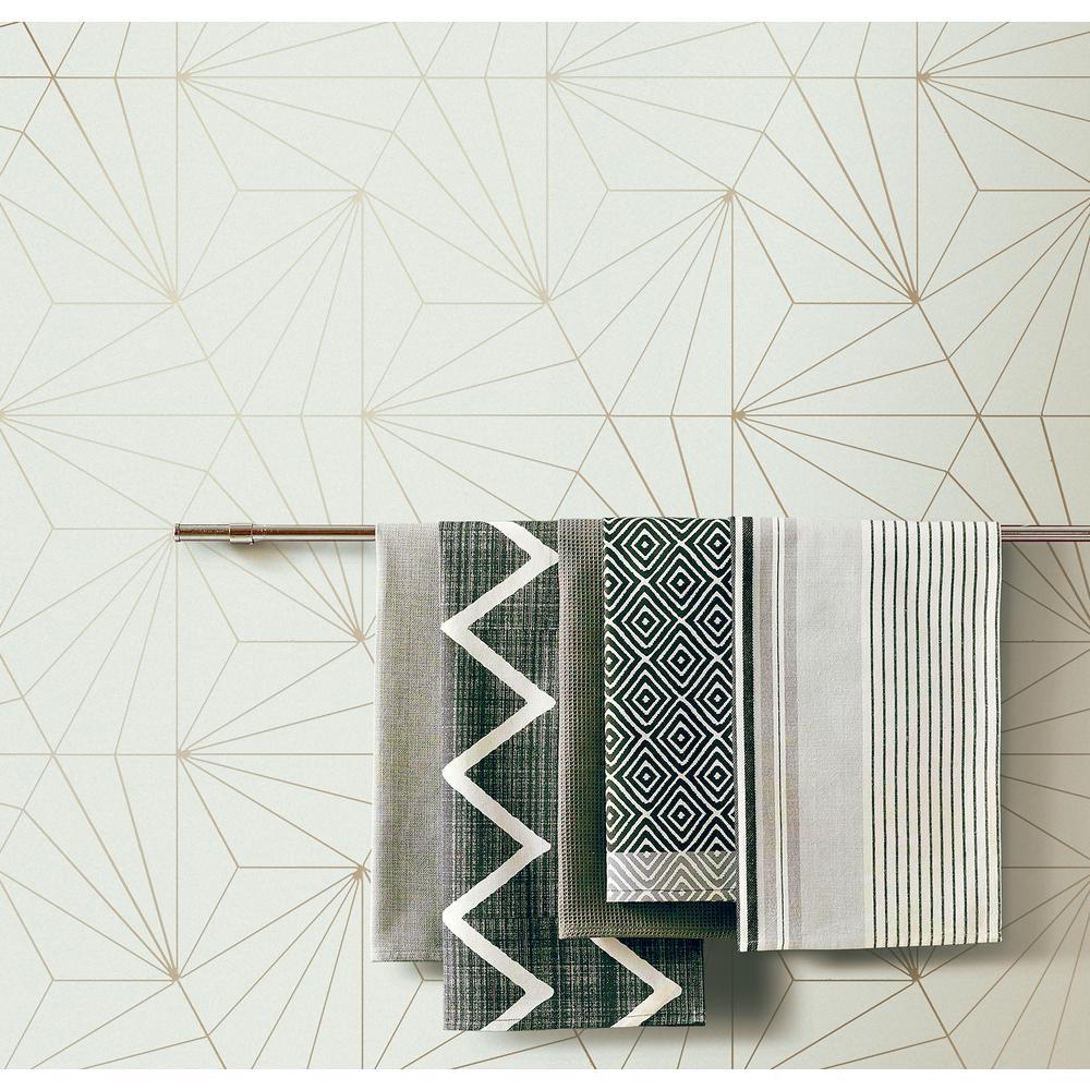 Luzon Cream Geometric Wallpaper Sample