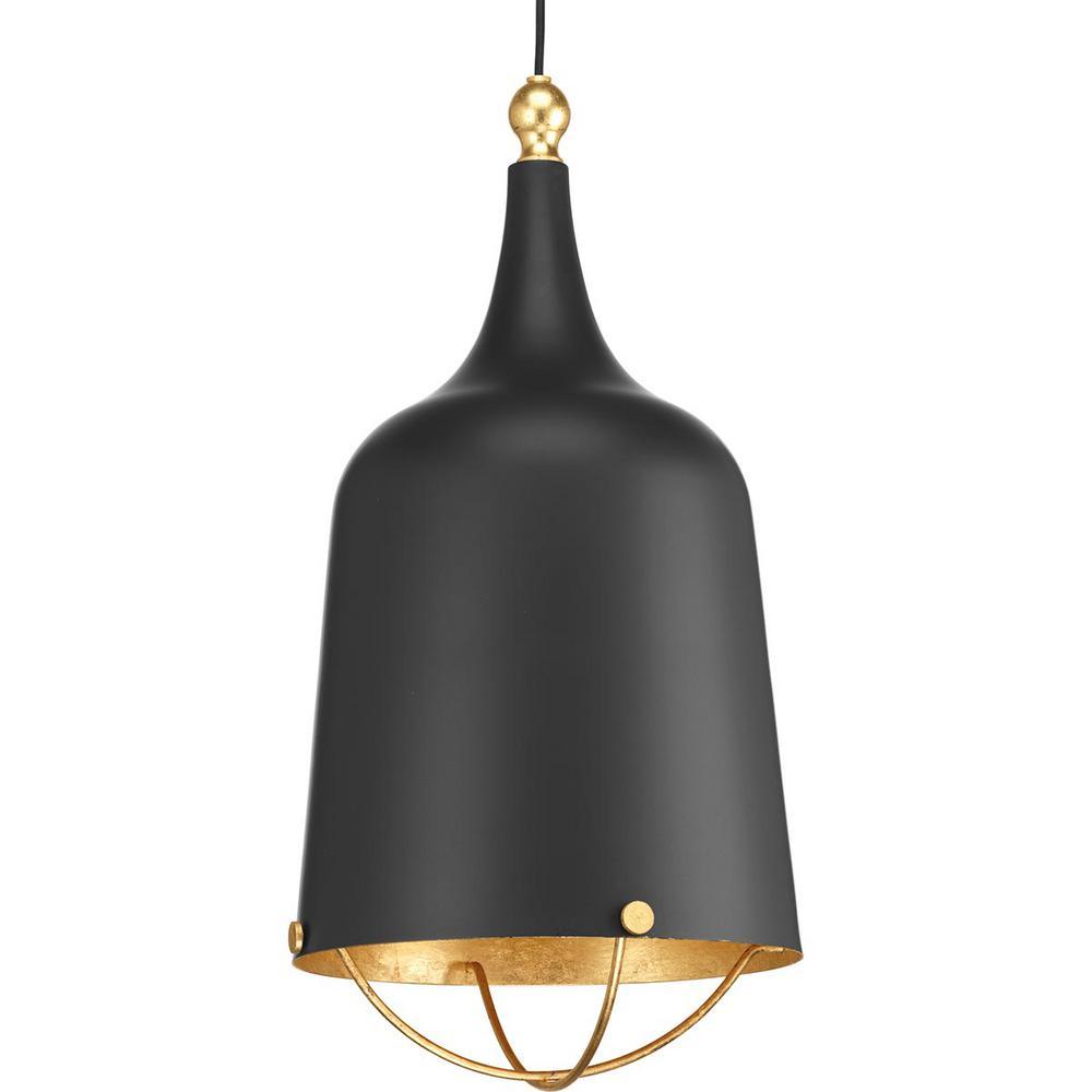 Progress Lighting Era Collection 1-Light Black Pendant