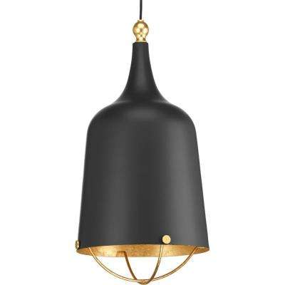 Era Collection 1-Light Black Pendant