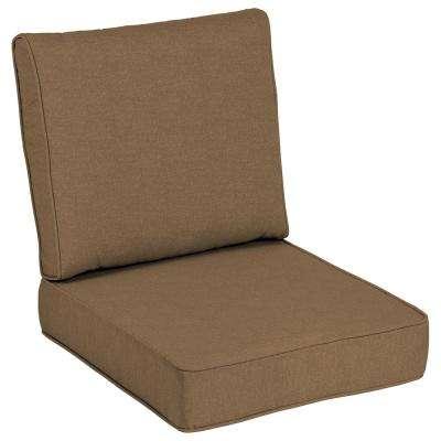 Sunbrella Cast Teak Outdoor Lounge Chair Cushion