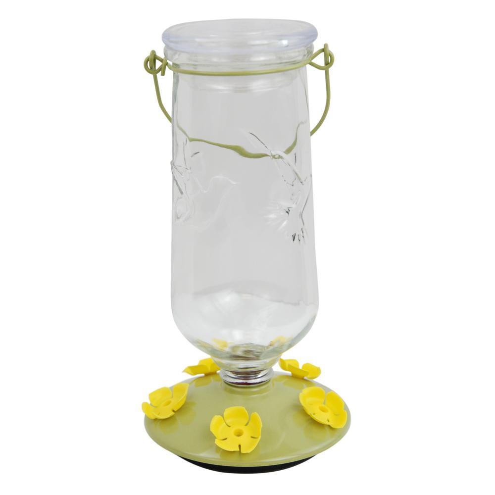 Desert Bloom Top-Fill Glass Hummingbird Feeder
