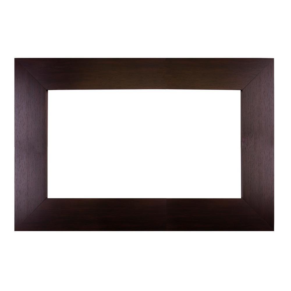 Sonoma 30 in. x 36 in. DIY Mirror Frame Kit in Espresso - Mirror Not Included