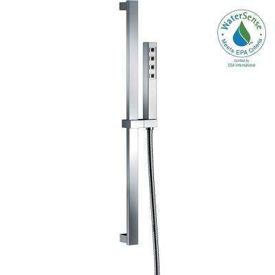 Ara 1-Spray Hand Shower in Chrome Featuring H2Okinetic