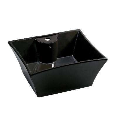 Vitreous China Vessel Sink in Black