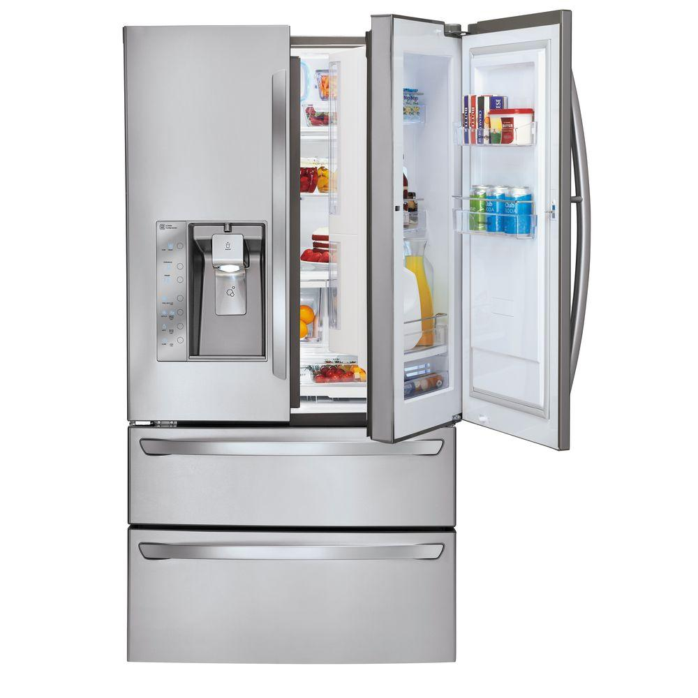 LG Electronics 30.3 cu. ft. French Door-in-Door Refrigerator in Stainless Steel