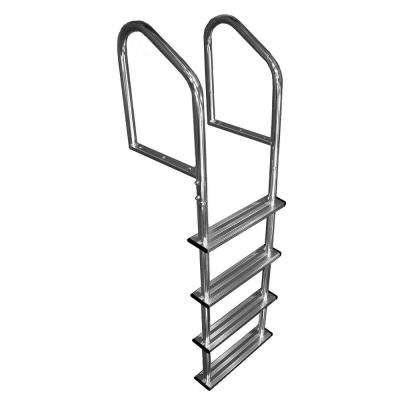 4 Step Standard Tubular Aluminum Dock Ladder
