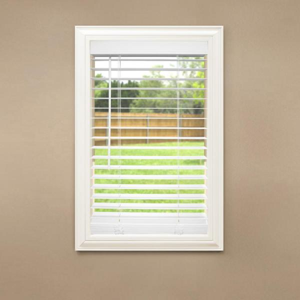 Home Decorators Collection White Cordless Room Darkening 2 In Faux Wood Blind For Window 72 In W X 64 In L 10793478184514 The Home Depot