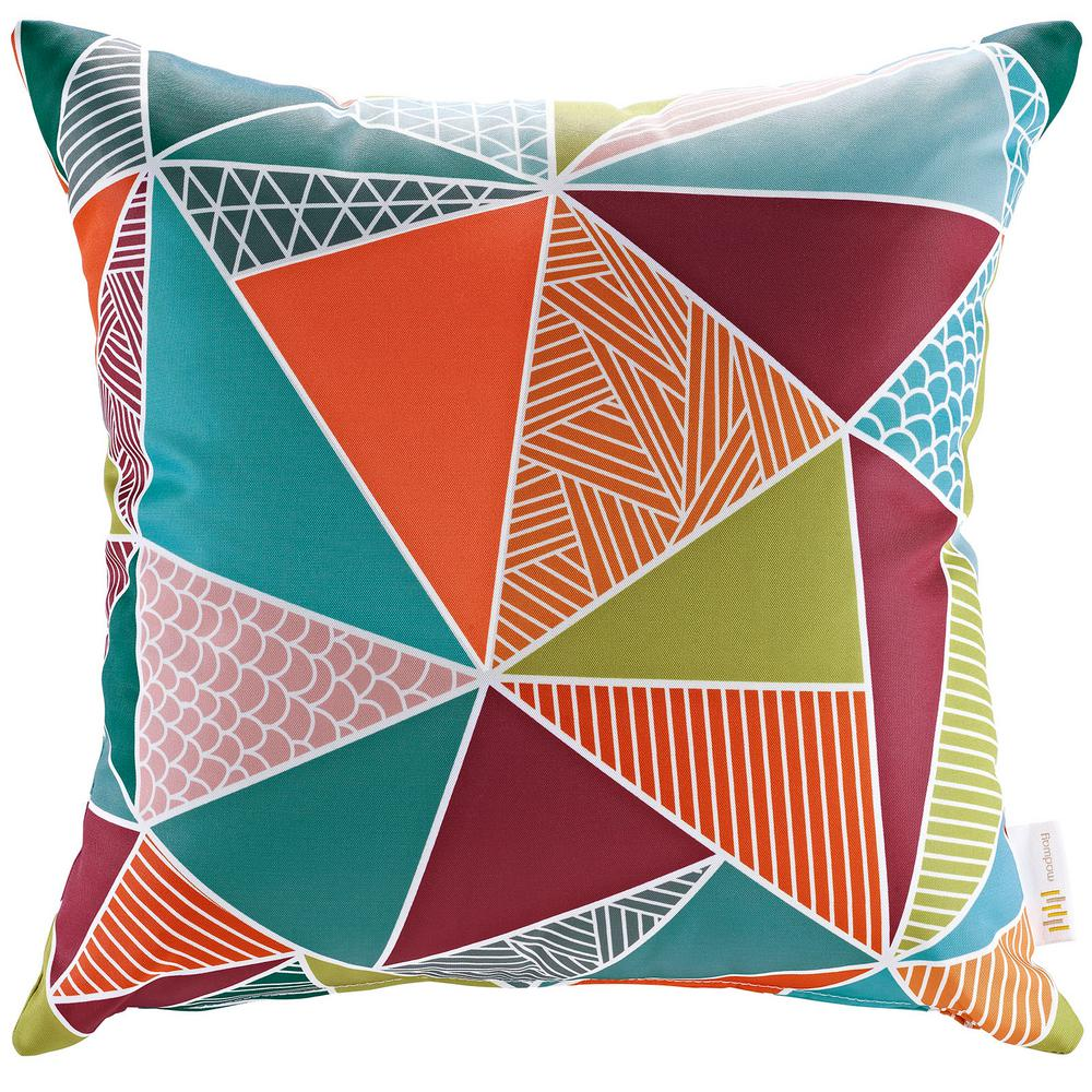 MODWAY Square Outdoor Throw Pillow in Mosaic