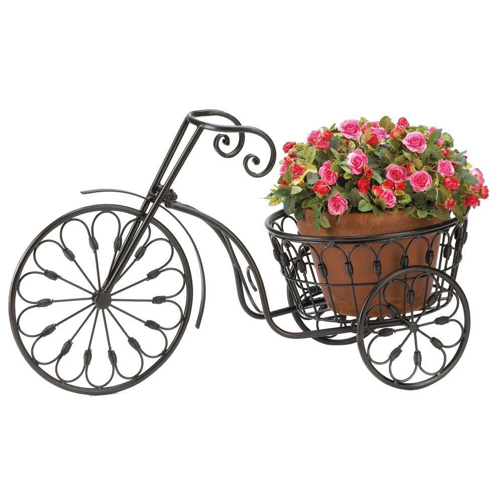 Malibu Creations Iron Bicycle Plant Stand