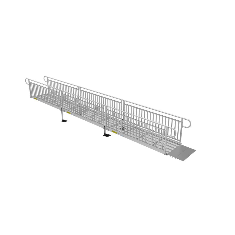 14 ft. Expanded Metal Ramp Kit with Vertical Pickets