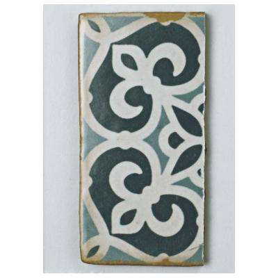 Archivo Bakula Encaustic Ceramic Floor and Wall Tile - 3 in. x 4 in. Tile Sample