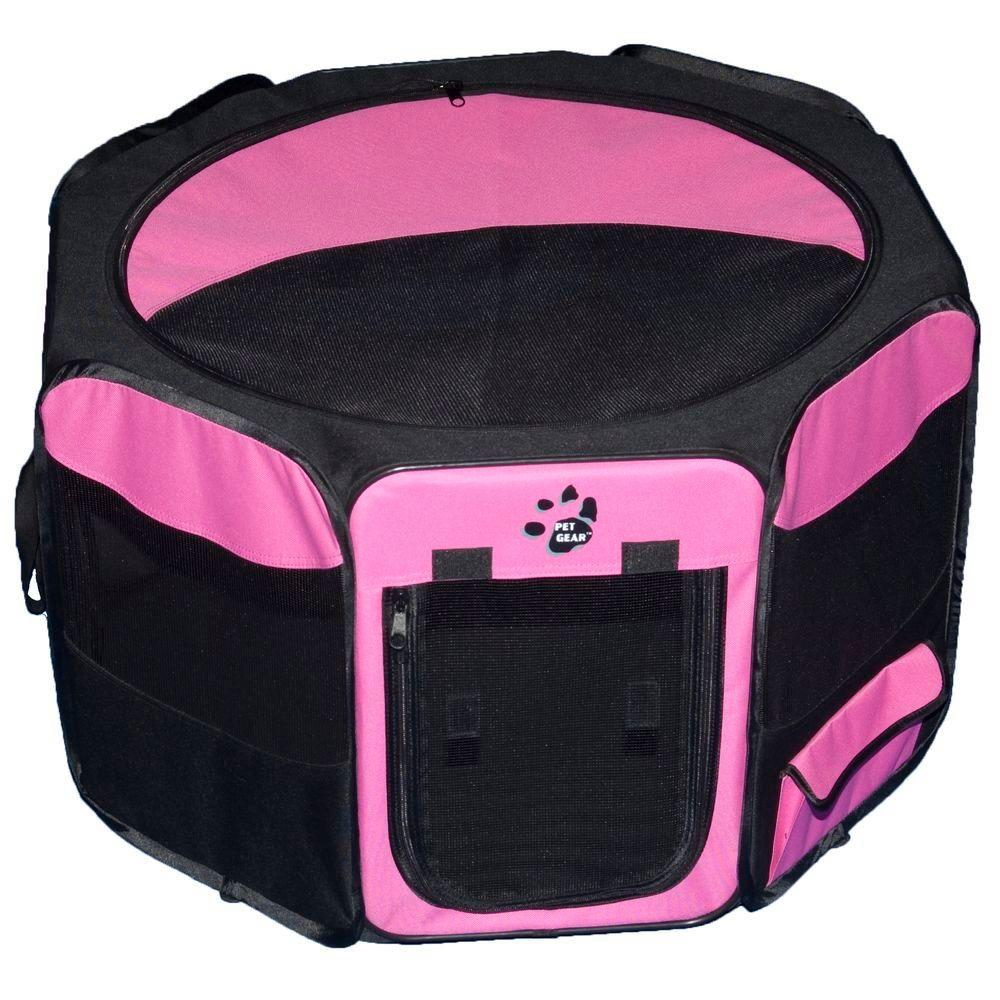 Pet Gear 29 in. L x 29 in. W x 17 in. H Octagon Pet Pen with Removable Top