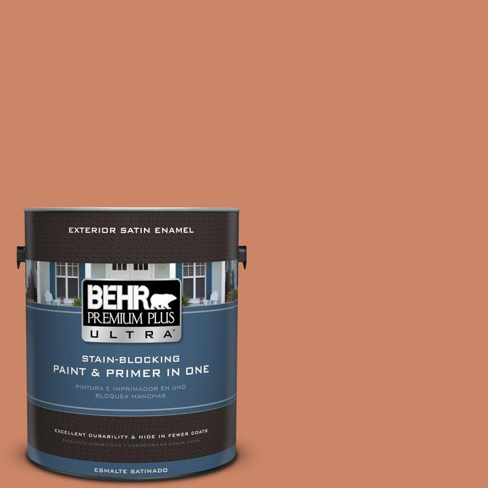 BEHR Premium Plus Ultra 1-gal. #230D-5 Aztec Brick Satin Enamel Exterior Paint